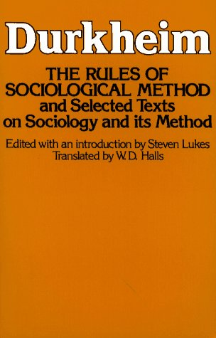 Rules of Sociological Method   1982 edition cover