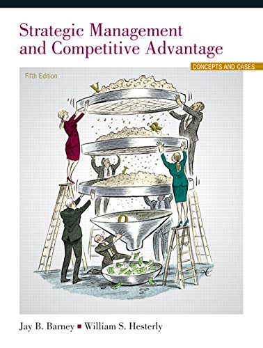 Strategic Management and Competitive Advantage  5th 2015 edition cover