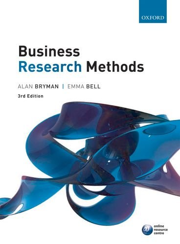 Business Research Methods  3rd 2011 edition cover