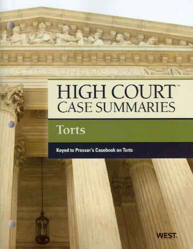 Torts - High Court Case Summaries  12th 2011 (Revised) edition cover