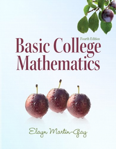 Basic College Mathematics  4th 2011 edition cover