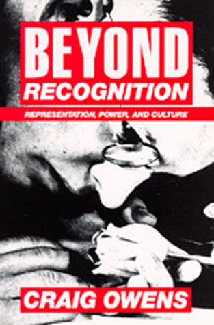 Beyond Recognition Representation, Power, and Culture  1994 edition cover