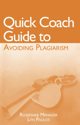 Quick Coach Guide to Avoiding Plagiarism  3rd 2009 9780547203409 Front Cover