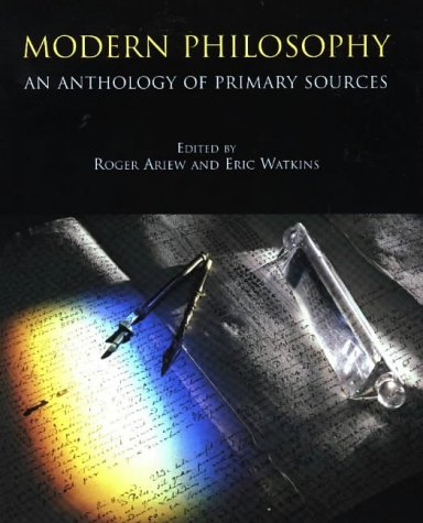 Modern Philosophy An Anthology of Primary Sources  1998 edition cover