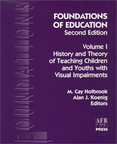 Foundations of Education History and Theory Vol 1 2nd 2000 edition cover
