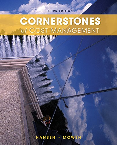 Cornerstones of Cost Management  3rd 2015 edition cover