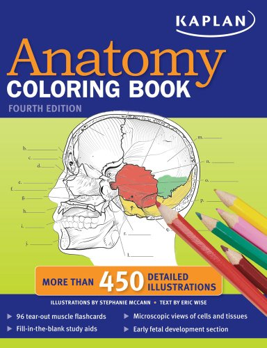 Kaplan Anatomy Coloring Book  4th edition cover