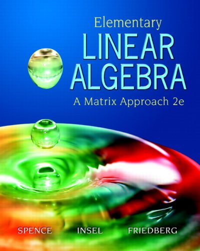 Elementary Linear Algebra  2nd 2008 (Revised) edition cover