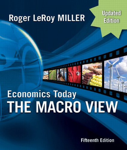 Economics Today The Macro View Update Edition 15th 2011 9780132139410 Front Cover