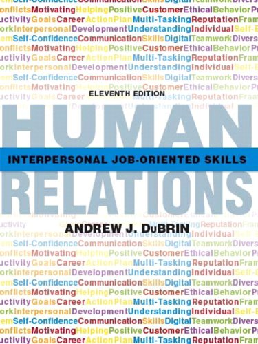 Human Relations Interpersonal Job-Oriented Skills 11th 2012 (Revised) 9780135109410 Front Cover