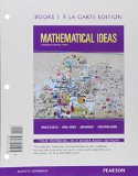 Mathematical Ideas With Integrated Review + Mymathlab, Student Edition: Books a La Carte Edition  2015 edition cover