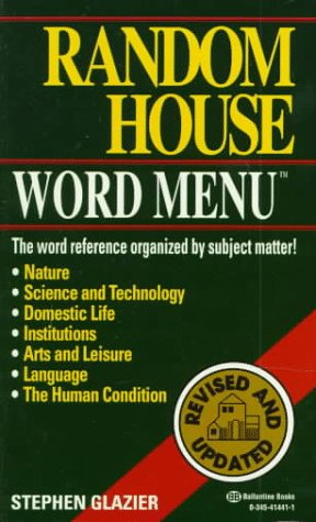 Random House Webster's Word Menu  N/A edition cover