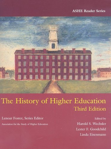 History of Higher Education  3rd 2008 edition cover