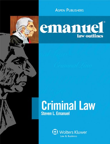 Criminal Law Elo 2010  Student Manual, Study Guide, etc.  edition cover
