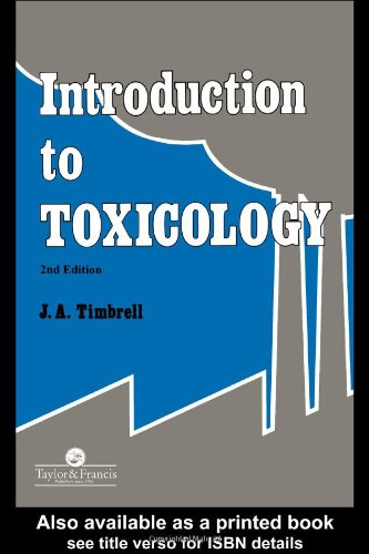 Introduction to Toxicology  2nd 1995 (Revised) 9780748402410 Front Cover