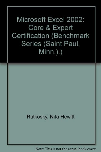 Microsoft Excel 2002 : Core and Expert Certification  2002 9780763814410 Front Cover