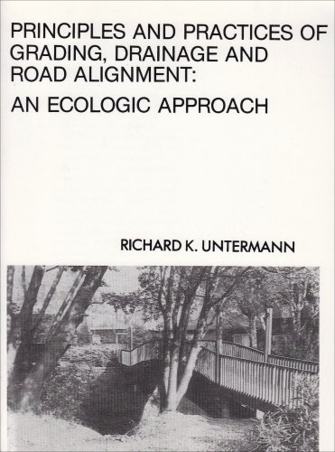 Principles and Practices of Grading and Drainage An Ecological Approach  1978 edition cover