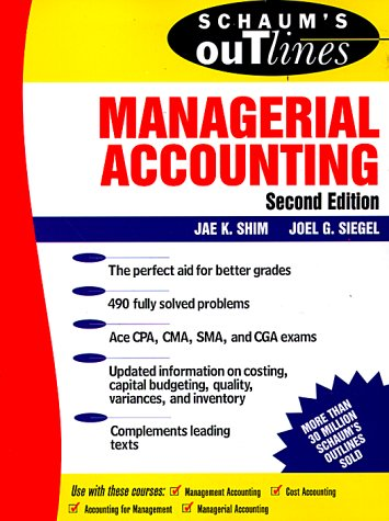 Managerial Accounting  2nd 1999 (Revised) edition cover
