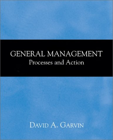 General Management Processes and Action  2002 9780072432411 Front Cover