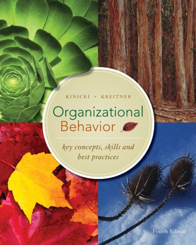 Organizational Behavior Key Concepts, Skills and Best Practices 4th 2009 edition cover