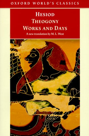 Theogony and Works and Days   1999 edition cover