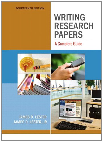 Writing Research Papers A Complete Guide 14th 2012 (Revised) edition cover