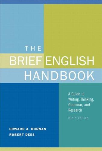 Brief English Handbook  9th 2010 edition cover