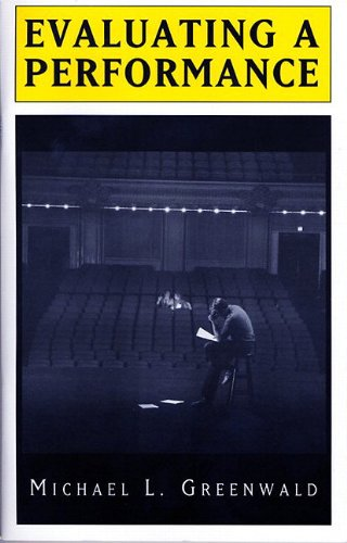 Evaluating a Performance   2002 edition cover