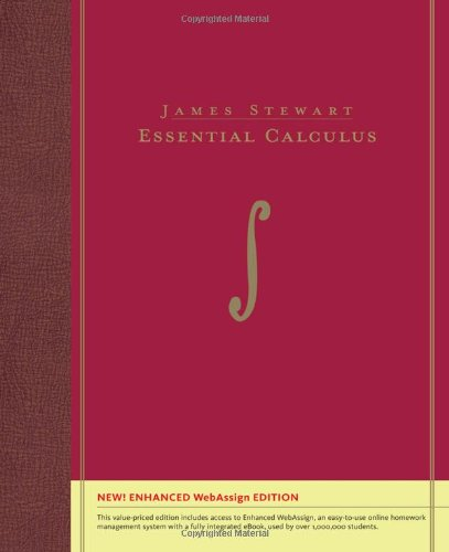 Essential Calculus, Enhanced Edition (with Enhanced WebAssign with eBook Printed Access Card for Multi Term Math and Science)   2011 9780538497411 Front Cover