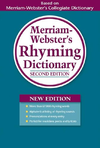 Merriam-Webster's Rhyming Dictionary  2nd 2007 (Revised) edition cover