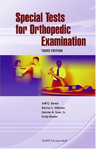 Special Tests for Orthopedic Examination  3rd 2006 edition cover