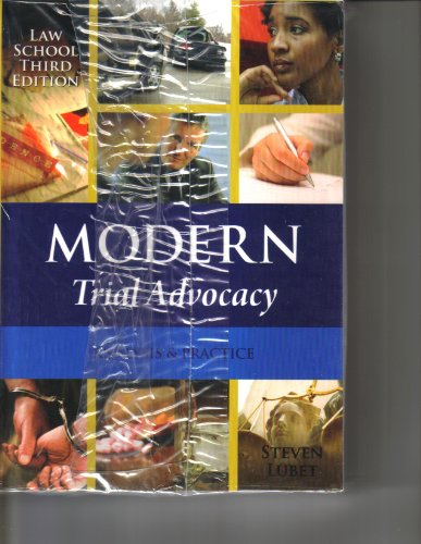 Modern Trial Advocacy 3rd 2009 edition cover