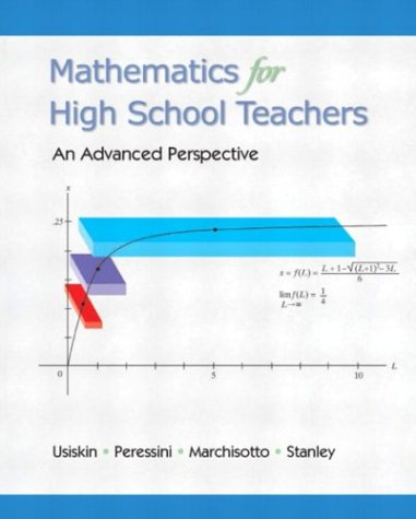 Mathematics for High School Teachers An Advanced Perspective  2003 edition cover