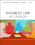 BUSINESS LAW IN CANADA-TEXT    N/A 9780132164412 Front Cover