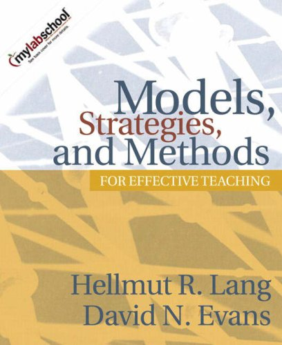 Models, Strategies, and Methods for Effective Teaching   2006 edition cover