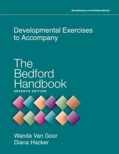 Developmental Exercises to Accompany the Bedford Handbook  7th 2006 edition cover