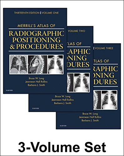 Merrill's Atlas of Radiographic Positioning and Procedures 3-Volume Set 13th 2015 edition cover