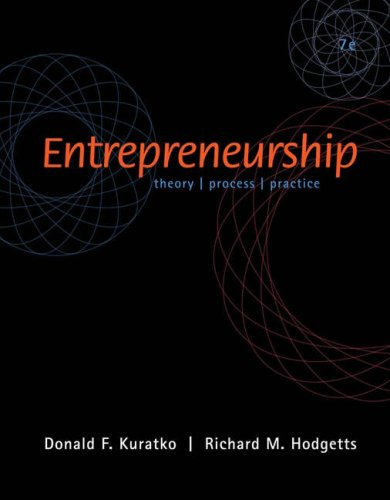 Entrepreneurship Theory/Process/Practice 7th 2007 edition cover