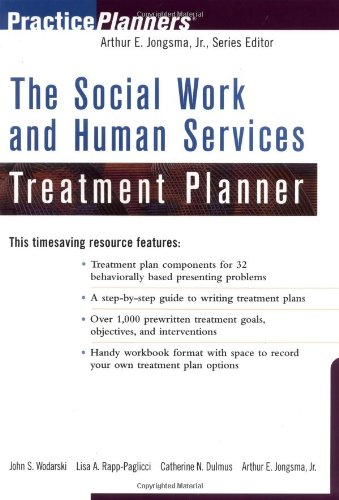 Social Work and Human Services Treatment Planner   2001 edition cover