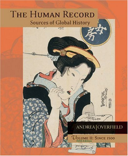 Human Record Sources of Global History since 1500 5th 2005 edition cover