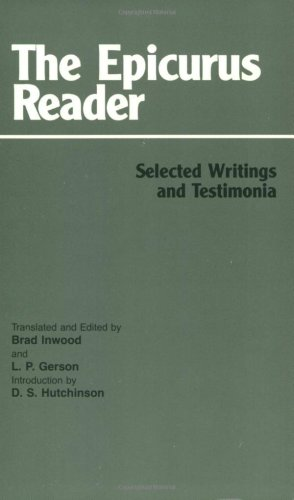 Epicurus Reader Selected Writings and Testimonia  1994 edition cover