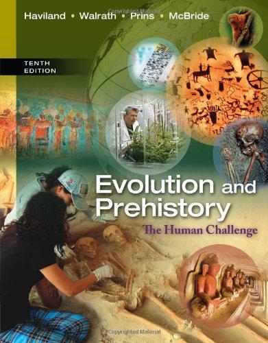 Evolution and Prehistory: The Human Challenge  2013 edition cover
