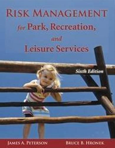 Risk Management for Park, Recreation, and Leisure Services  6th 2011 9781571676412 Front Cover