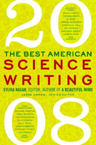 Best American Science Writing 2008  N/A 9780061340413 Front Cover