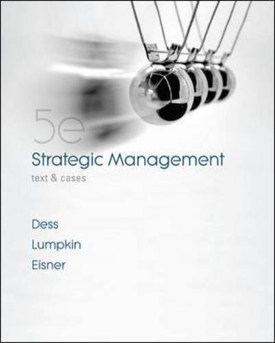 Strategic Management Text and Cases 5th 2010 edition cover