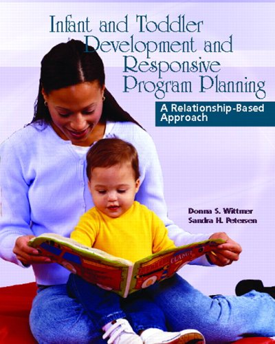 Infant and Toddler Development and Responsive Program Planning A Relationship-Based Approach  2006 edition cover