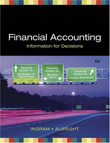 Financial Accounting Information for Decisions (with Xtra CD-ROM) 6th 2007 edition cover