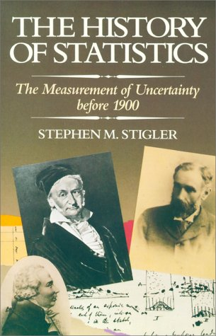 History of Statistics The Measurement of Uncertainty Before 1900  1986 edition cover