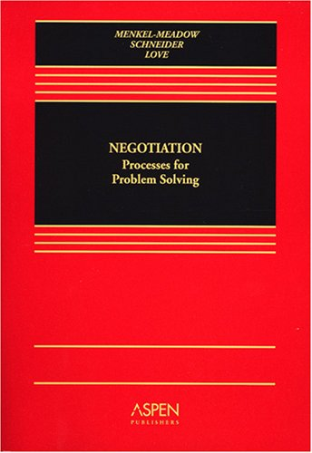 Negotiation Process for Problem Solving  2006 edition cover