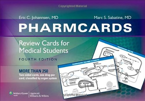 PharmCards Review Cards for Medical Students 4th 2010 (Revised) edition cover